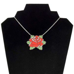 DollyCool Blooming Rose Necklace